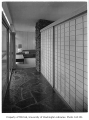 Putnam residence interior showing hallway, Bellevue, 1956