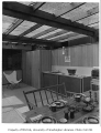 Evans residence interior showing dining area, Mercer Island, 1956
