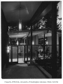 Rind residence exterior showing entrance, Bellevue, 1957