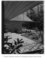Gilbert residence exterior showing patio, Seattle, 1958