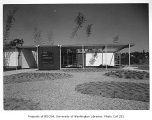 Group Health Clinic exterior showing entrance, Seattle, 1958