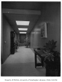 Sevener residence interior showing hallway, Seattle, 1953