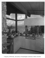 Hayter residence interior showing kitchen, Issaquah, 1956