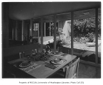 Mayer residence interior showing dining area, Seattle, 1950