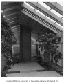 Gilbert residence exterior showing entrance, Seattle, 1958