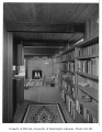 Ethel Addition interior showing bookshelves in hallway, Seattle