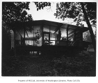 Fleming residence exterior from rear, Bellevue, 1953