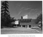 University Unitarian Church exterior from side, Seattle, 1960