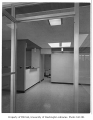 Group Health Clinic interior showing reception area, Seattle, 1958