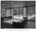 Norton Building interior showing seating area, Seattle, 1960