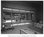 Moffett residence interior showing living room, Seattle, 1954