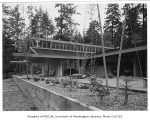 Gilbert residence exterior from rear, Seattle, 1958