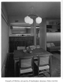 Putnam residence interior showing dining area, Bellevue, 1956