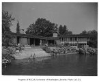 Jarvis residence exterior from rear, Seattle, 1957