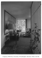 Electri-Living House interior showing hallway and living room, Medina, 1956