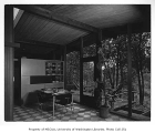 Fleming residence interior showing dining area, Bellevue, 1953