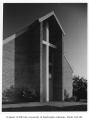 Church of the Brethren exterior showing entrance, Seattle, 1949