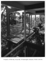 Miller residence exterior showing deck, Seattle, 1958