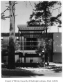 University of Washington Faculty Center exterior showing entrance, Seattle, 1960