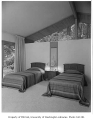 Gilbert residence interior showing bedroom, Seattle, 1958