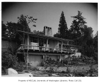 Anderson residence exterior from rear, Mercer Island, 1960