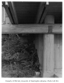 Anderson residence exterior showing beams, Mercer Island, 1960
