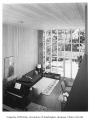Hauberg residence interior showing living room, Seattle, 1957
