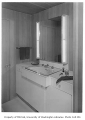 Hauberg residence interior showing bathroom, Seattle, 1957