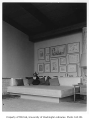 Alger residence interior showing living room, Seattle, 1955