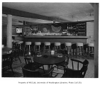 Crabapple Restaurant interior showing bar, Bellevue, 1955