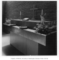 Church of the Brethren interior showing altar, Seattle, 1949