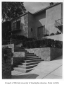 Blethen residence exterior showing entrance, Seattle, 1957