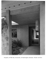Freesz residence exterior showing entrance, Seattle, 1959