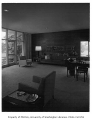 Clark residence interior showing living room, Seattle, 1957
