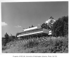 University of Washington Faculty Center exterior from rear, Seattle, 1960