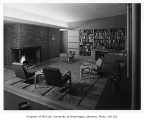 Lundberg residence interior showing sitting room, n.d.