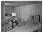 Hauberg residence interior showing bedroom and sitting room, Seattle, 1957