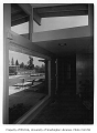 Isaacs residence interior showing hallway, Bellevue, 1953