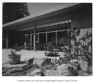 Moffett residence exterior from rear, Seattle, 1954