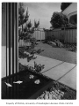 Clark residence exterior showing landscaping, Seattle, 1957