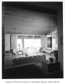 Anderson residence interior showing living room, Mercer Island, 1960
