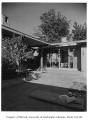 Freesz residence exterior showing patio, Seattle, 1959