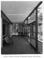 University of Washington Faculty Center interior showing hallway, Seattle, 1960