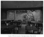 Crabapple Restaurant interior showing dining area, Bellevue, 1955