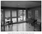 Clark residence interior showing sitting room, Seattle, 1957