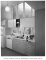 Blethen residence interior showing kitchen, Seattle, 1957