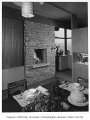 Hayter residence interior showing dining area, Issaquah, 1956