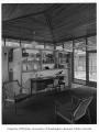 Lange residence interior showing sitting room, Mercer Island, 1959