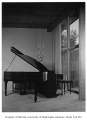 Alger residence interior showing piano, Seattle, 1955