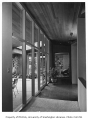 Jacobs residence interior showing hallway, Seattle, 1953